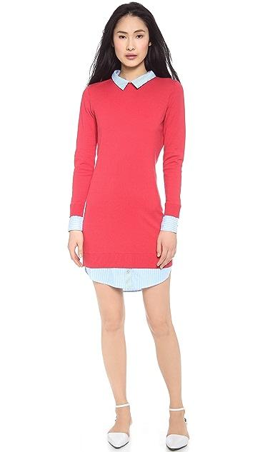 Paul Smith Black Label Cotton Trim Sweater Dress