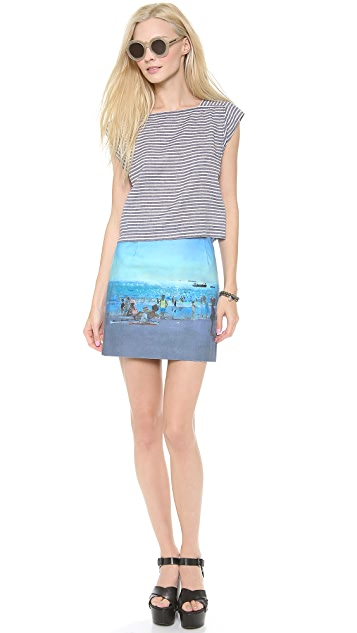 Paul Smith Black Label Beach Print Skirt