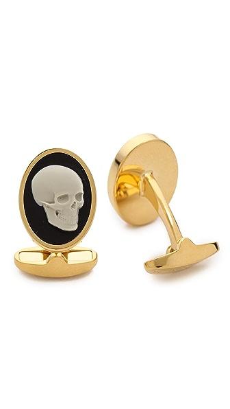 Paul Smith Skull Cameo Cufflinks