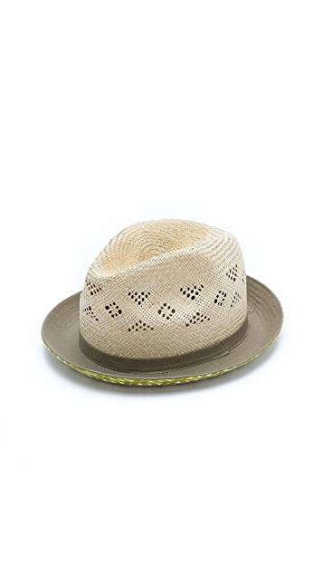 Paul Smith Straw and Fabric Hat