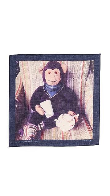 Paul Smith Mr. Brown Teapot Pocket Square