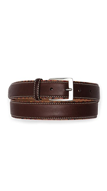 Paul Smith Vintage Multistripe Piping Belt