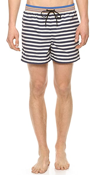 Paul Smith Classic Stripe Swim Trunks