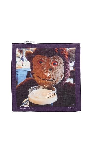 Paul Smith Sock Monkey Pocket Square