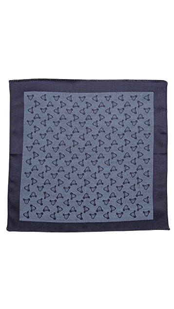 Paul Smith Mr. Brown Pocket Square