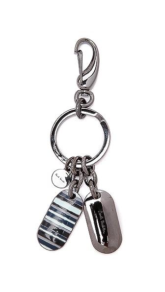 Paul Smith Multi Stripe Tag Key Ring