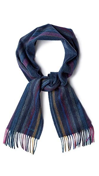 Paul Smith Woven Wool Stripe Scarf