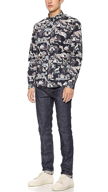 Paul Smith Jeans Tailored Novel Print Shirt