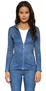 Denim Peplum Jacket                PRISMSPORT
