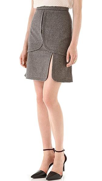 Peter Som Mini Houndstooth Skirt