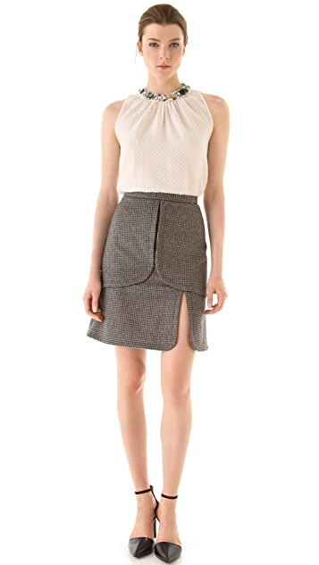 Peter Som Mini Houndstooth Skirt