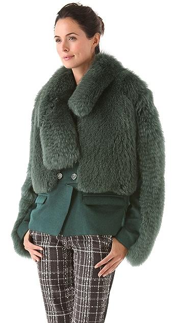Peter Som Wool & Fox Coat