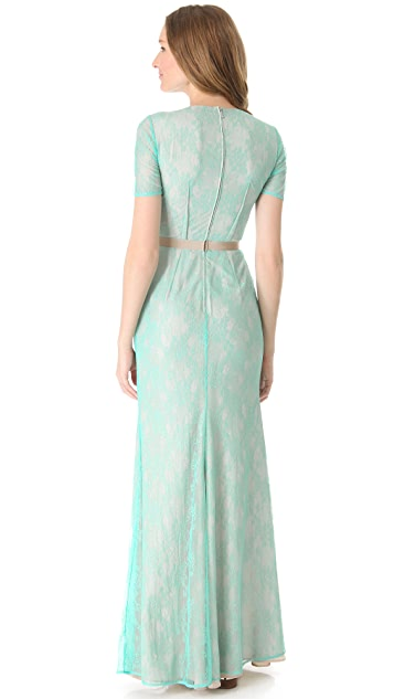 Peter Som Short Sleeve Gown
