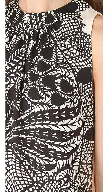 Peter Som Vine Print Sleeveless Top