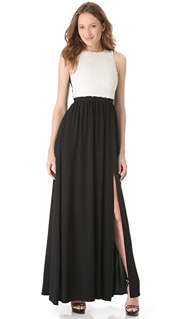 Peter Som Sleeveless Crepe Gown