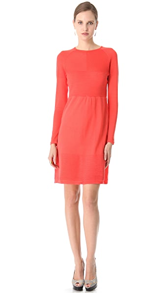 Peter Som Ribbed Sweater Dress