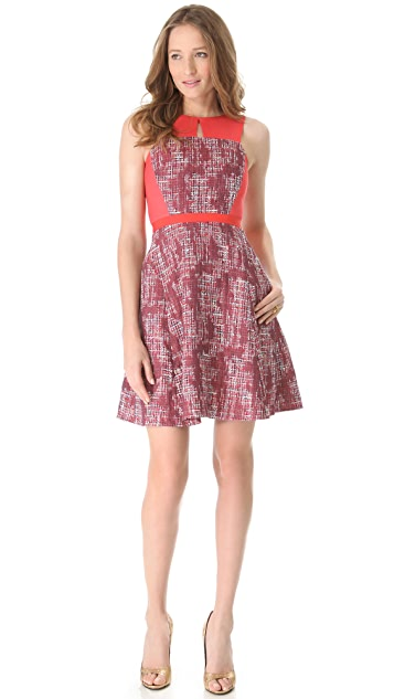 Peter Som Colorblock Tweed Dress