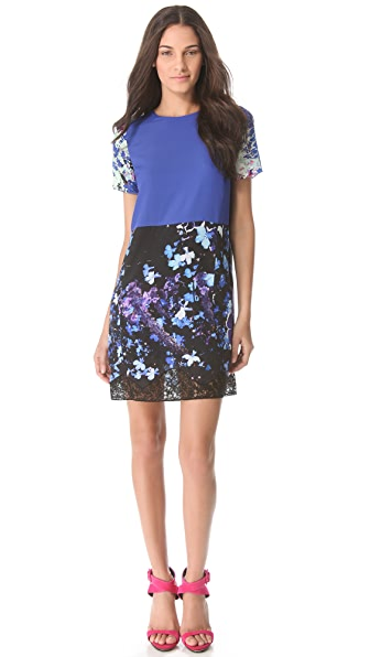 Peter Som Floral Blocked Dress