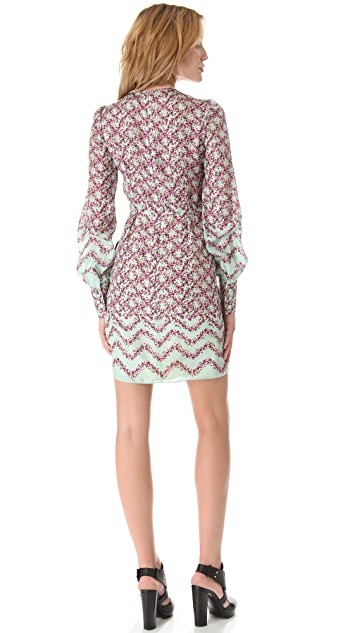 Peter Som Floral Long Sleeve Dress