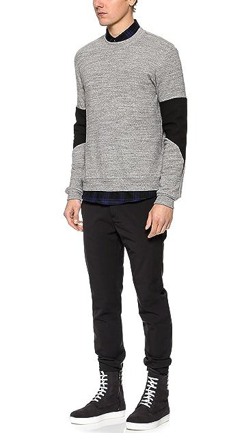 Public School Combo Trapunto Insert Sweatshirt