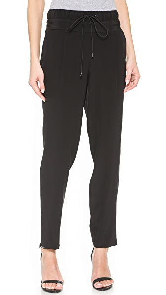 Public School Double Waistband Slouchy Pants - Black