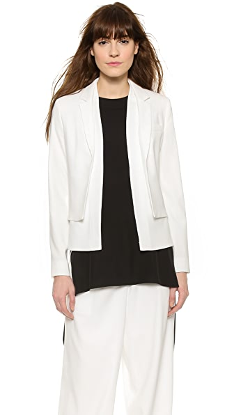 Public School Double Layered Blazer - Off White