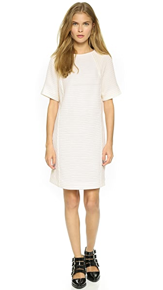 Public School Pleated Front Dress - Off White