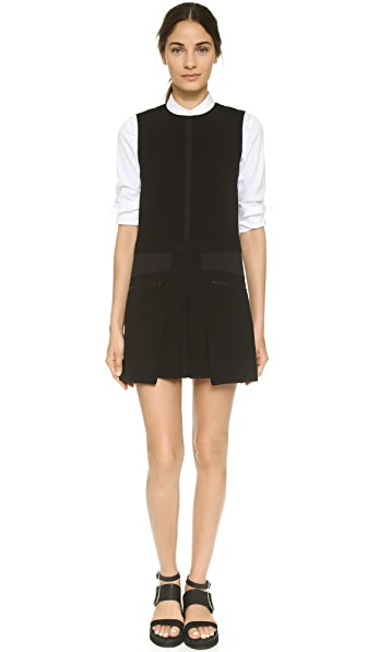 Public School Bellow Pocket Pleated Dress - Black
