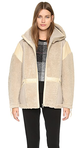 Public School Snorri Shearling Jacket - Sand