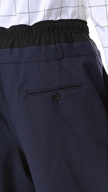 Public School Acklin Wool Mathilde Double Waistband Shorts