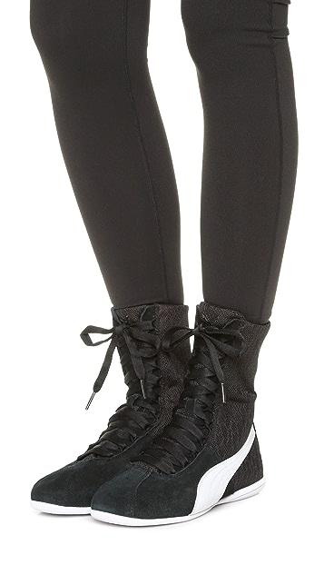 PUMA Eskiva High Top Textured Sneakers