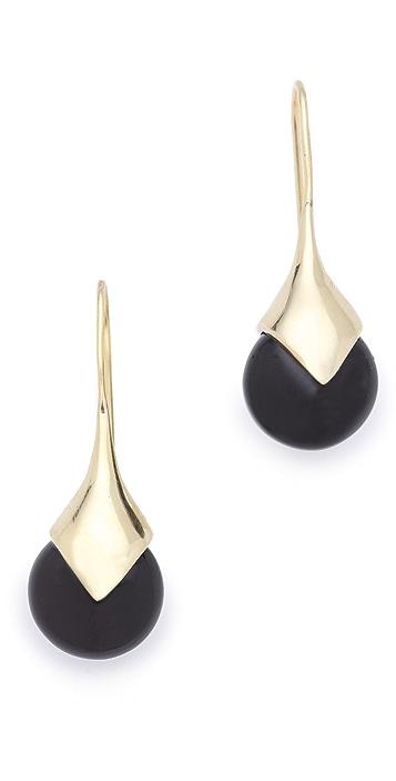 push BY PUSHMATAaHA Onyx Drop Earrings