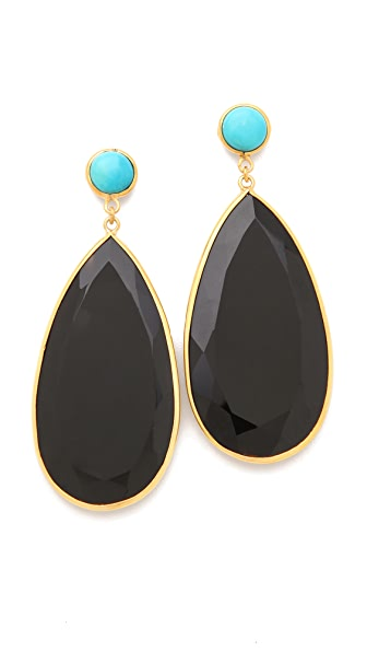 push BY PUSHMATAaHA Large Tear Earrings