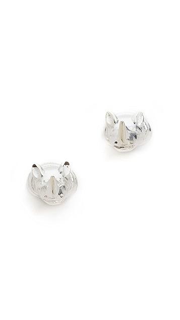 push BY PUSHMATAaHA Rhino Stud Earrings