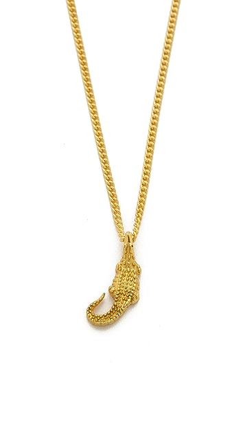 push BY PUSHMATAaHA Mini Crocodile Necklace