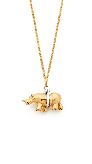 push BY PUSHMATAaHA Rhino Necklace