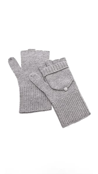 QUINN Cashmere Pop Top Mittens