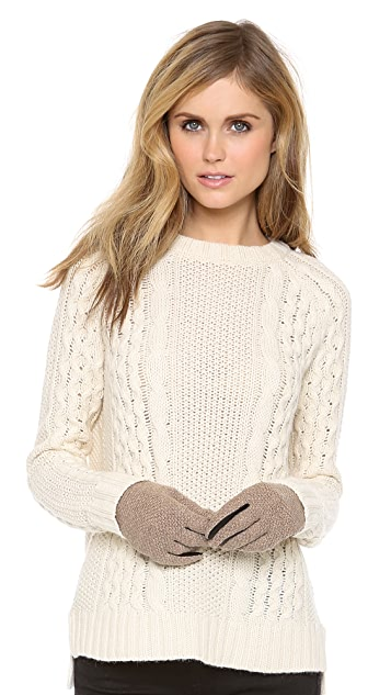 QUINN Cashmere & Leather Gloves