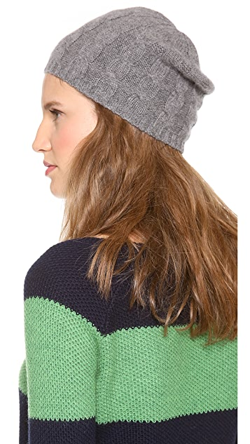 QUINN Cashmere Cable Knit Hat