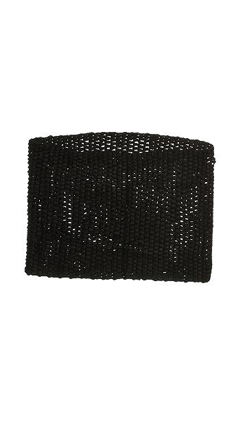 QUINN Open Knit Tube Scarf