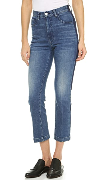 Rachel Comey Cropped Tux Jeans In Classic Indigo Wash