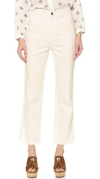 Rachel Comey Slim Legion Jeans - Dirty White