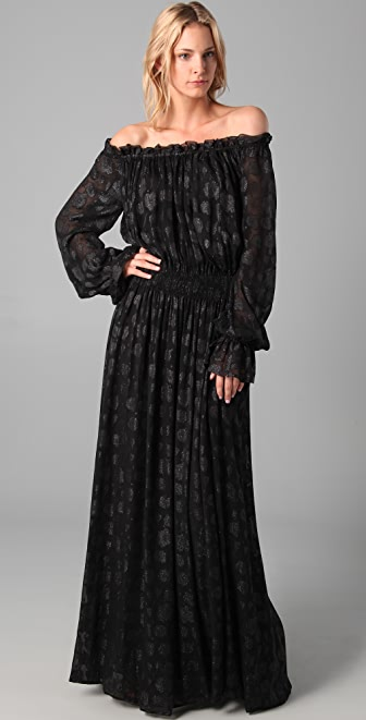 Rachel Zoe Diane Blouson Maxi Dress