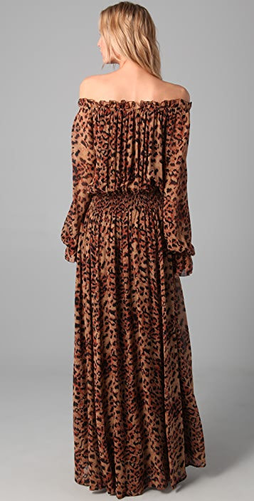Rachel Zoe Panther Print Maxi Dress