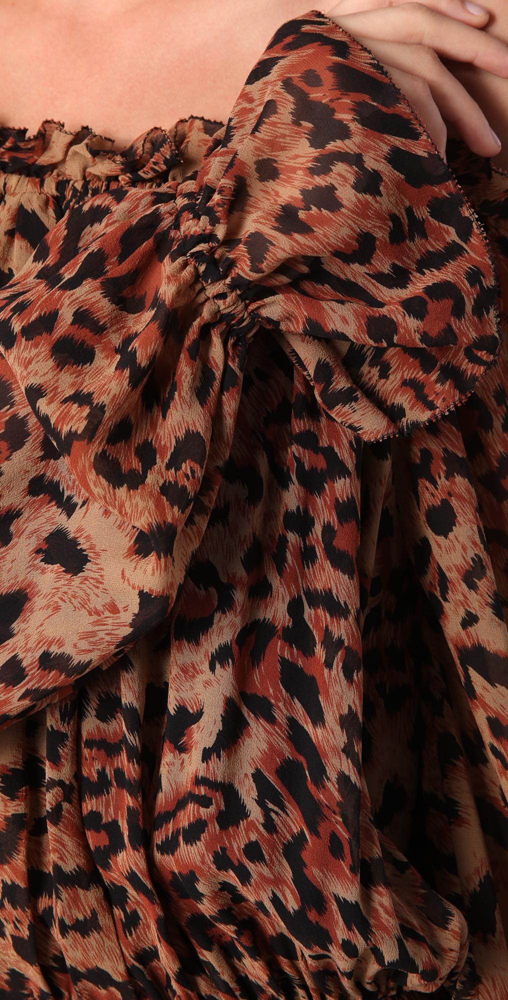 9eddccb8a1 Rachel Zoe Panther Print Maxi Dress