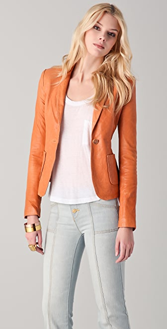 Rachel Zoe Sullivan II Leather Suit Jacket
