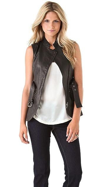 Rachel Zoe Nora Leather Vest
