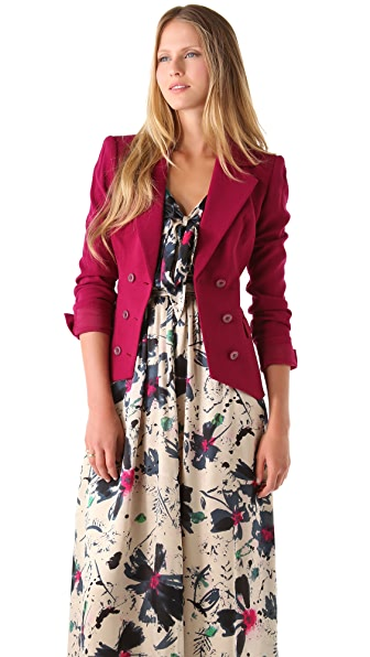 Rachel Zoe Lou Double Breasted Jacket