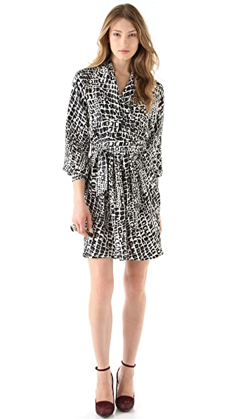 Rachel Zoe Cole Shawl Collar Dress