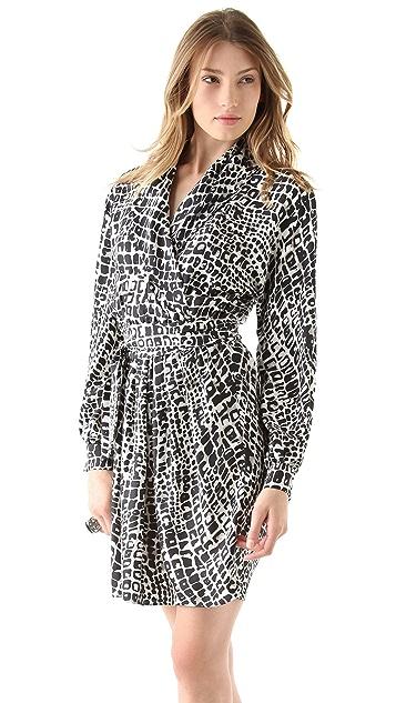 Rachel Zoe Cole Shawl Collar Dress